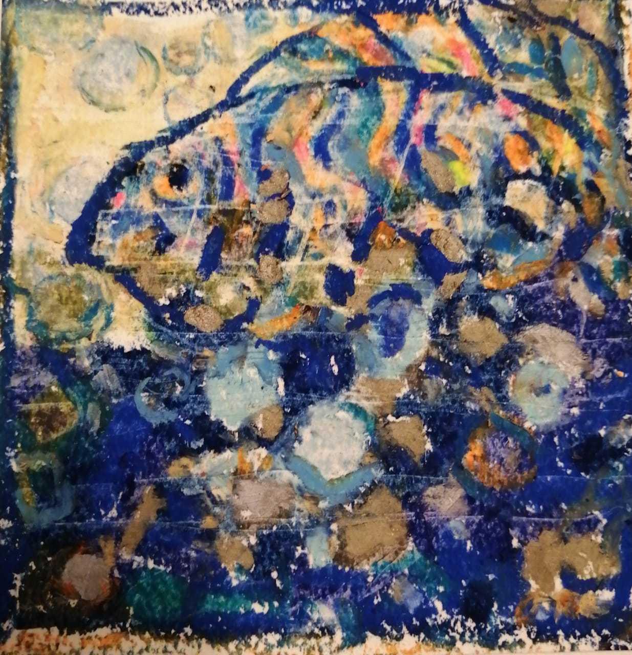 Макарова Ольга / тема «Мелодия»: песня «Рыбка Золотая» Е. Ваенга / масляная пастель