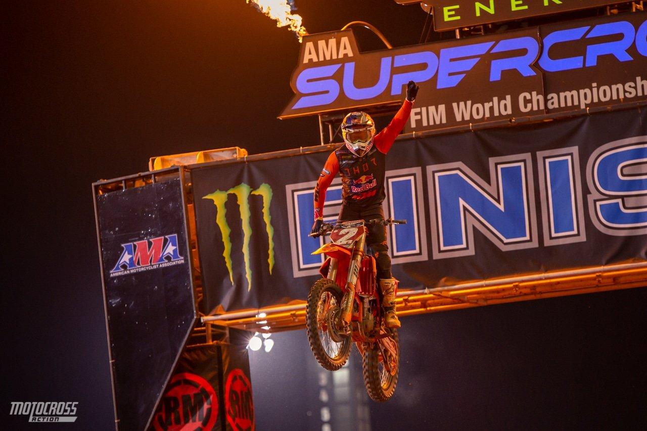 АМА Суперкросс 2021: Купер Уэбб – победитель этапа в Антланте 3