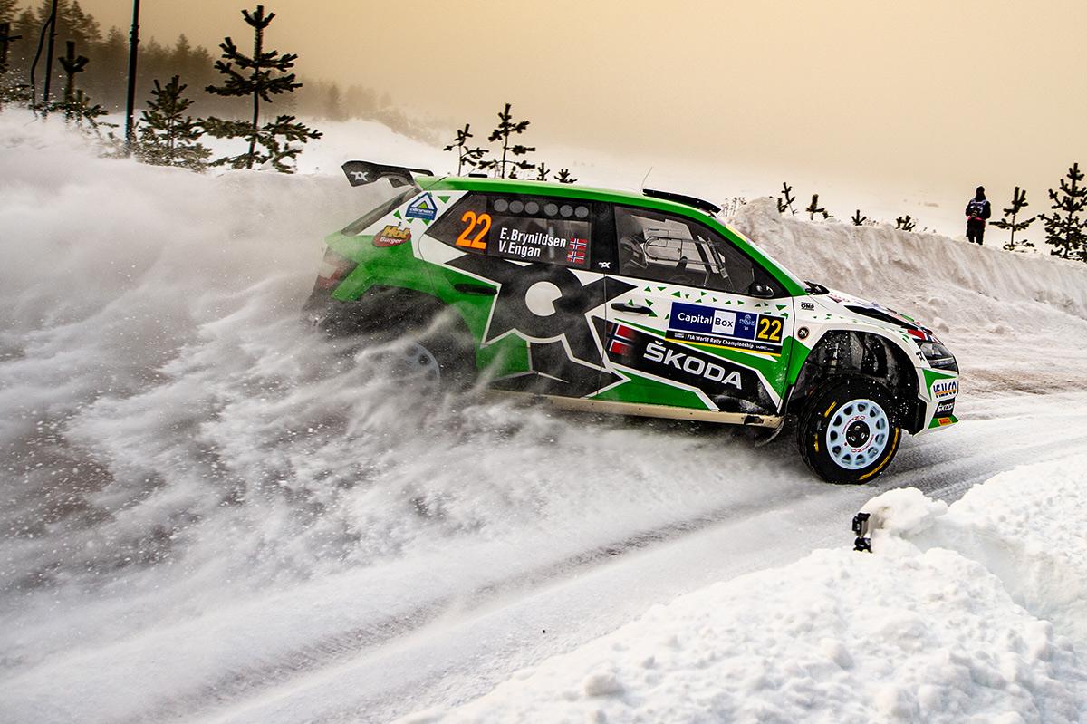 Эйвинд Брюнильдсен и Вероника Энган, Skoda Fabia Rally2 evo, Arctic Rally Finland 2021