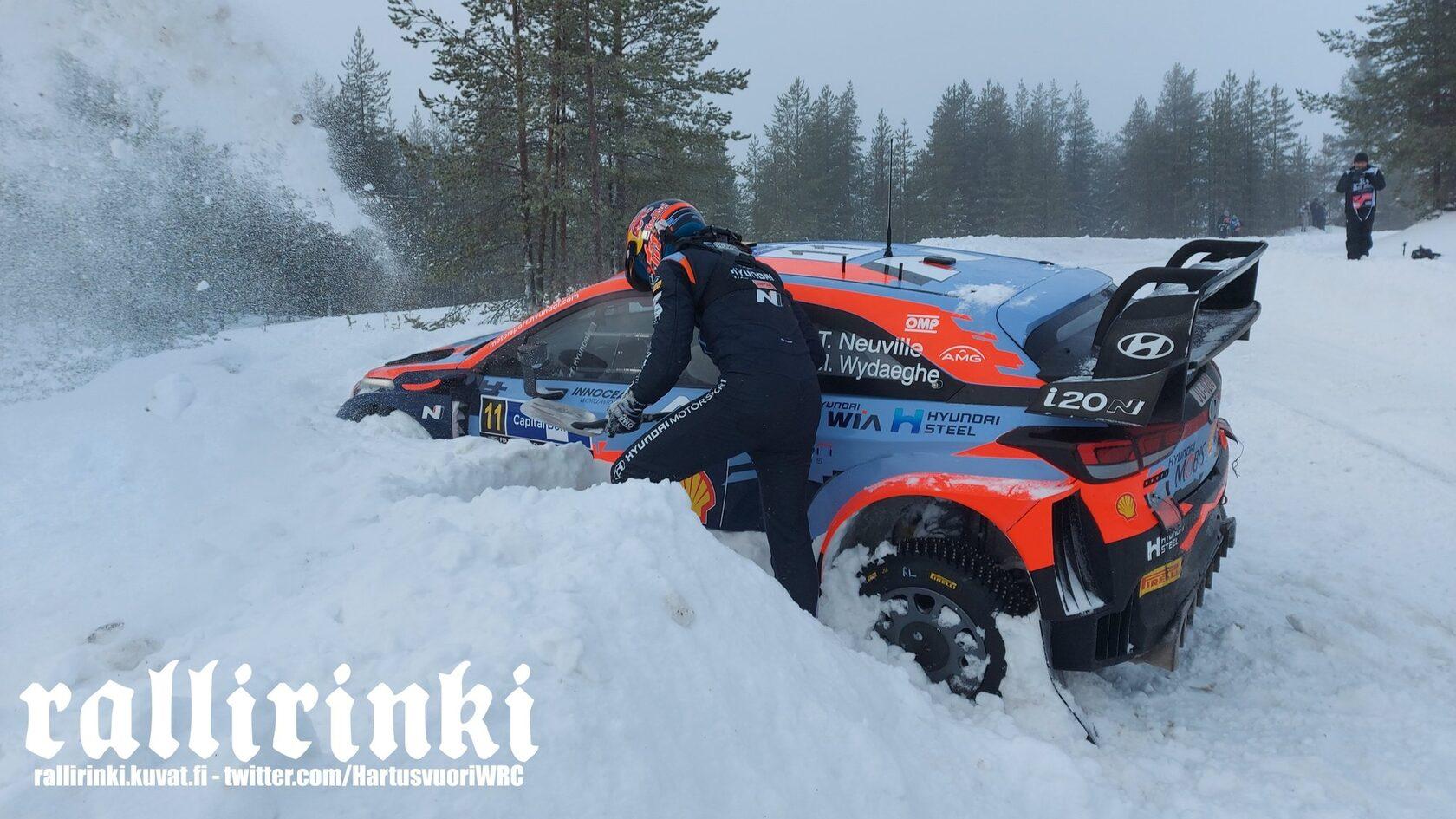 Тьерри Невилль и Мартейн Видаге, Hyundai i20 Coupe WRC, Arctic Rally Finland 2021