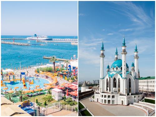 Сочи и Казань в мае и июне