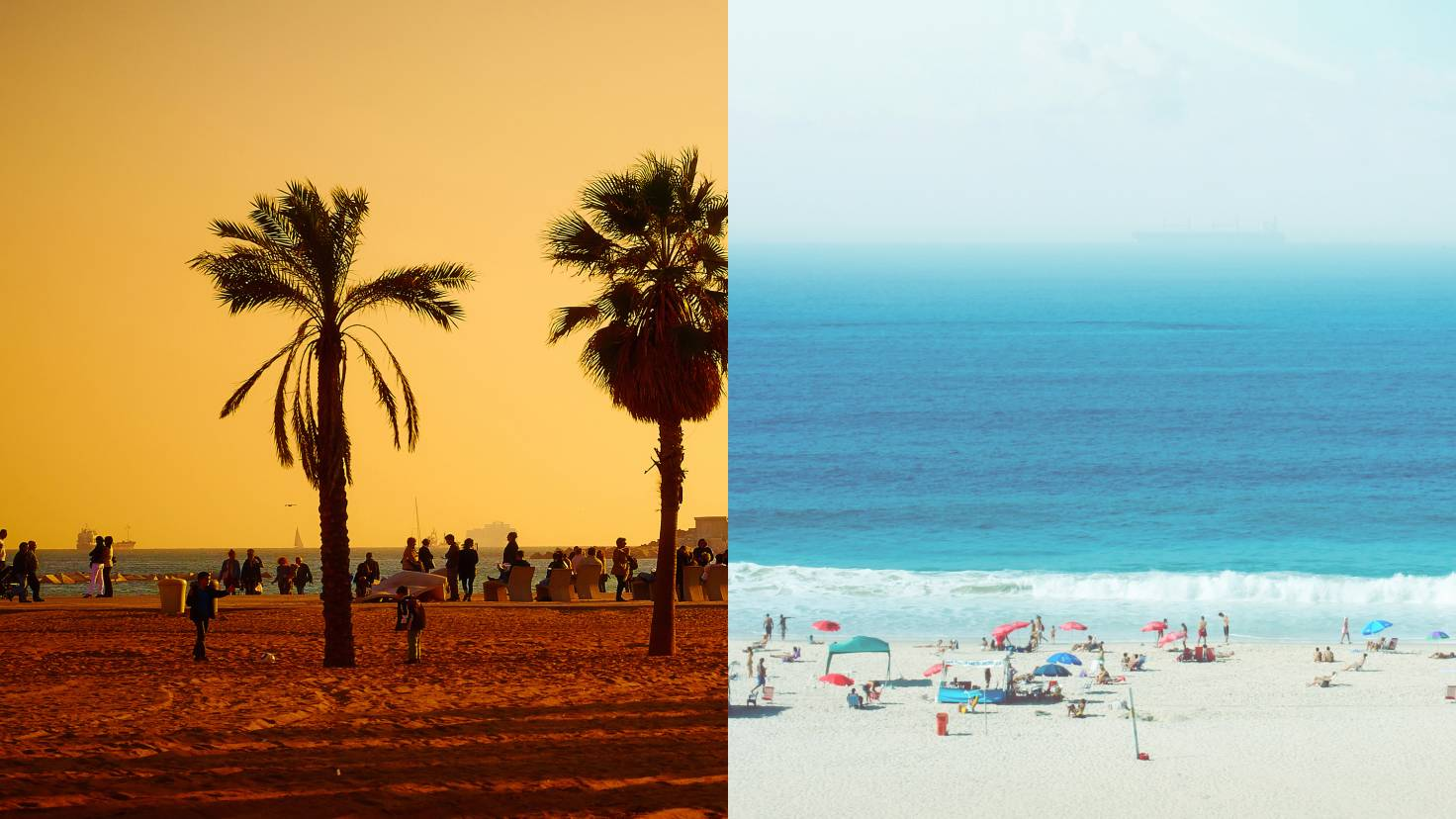 Великолепные пляжи Барселоны и Рио-де-Жанейро