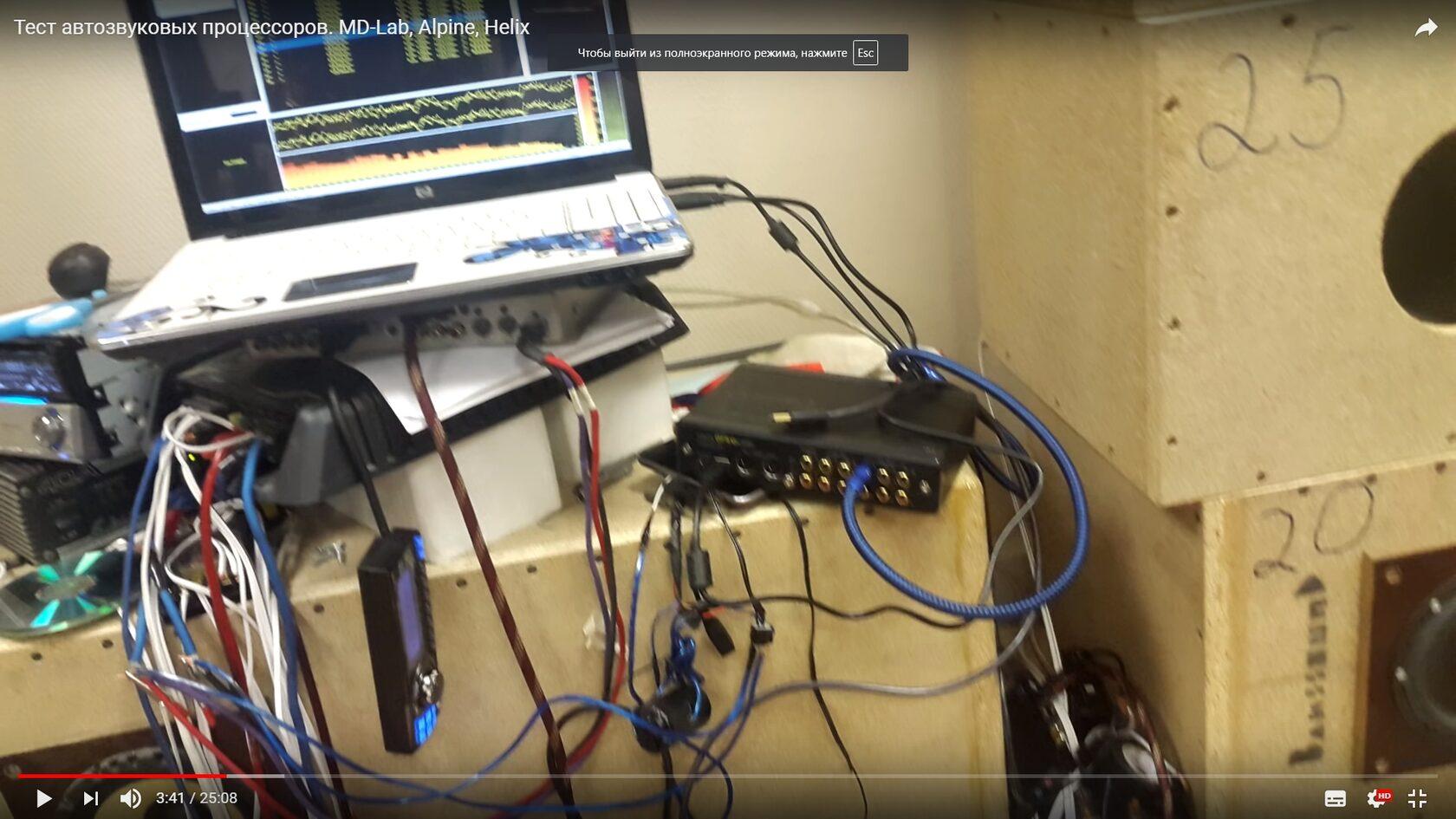 тест автомобильных аудиопроцессоров
