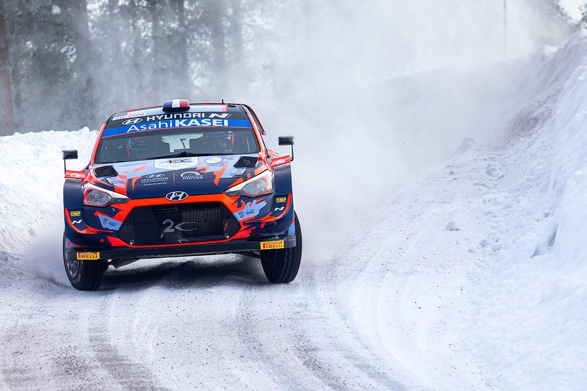 Пьер-Луи Лубе и Венсан Ландэ, Hyundai i20 Coupe WRC, Arctic Rally Finland 2021