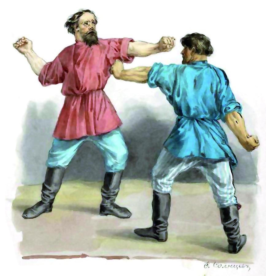 Федор Солнцев «Кулачный бой» (1836)