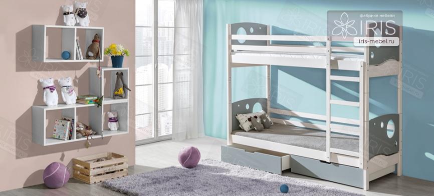 Кровать двухъярусная спутник