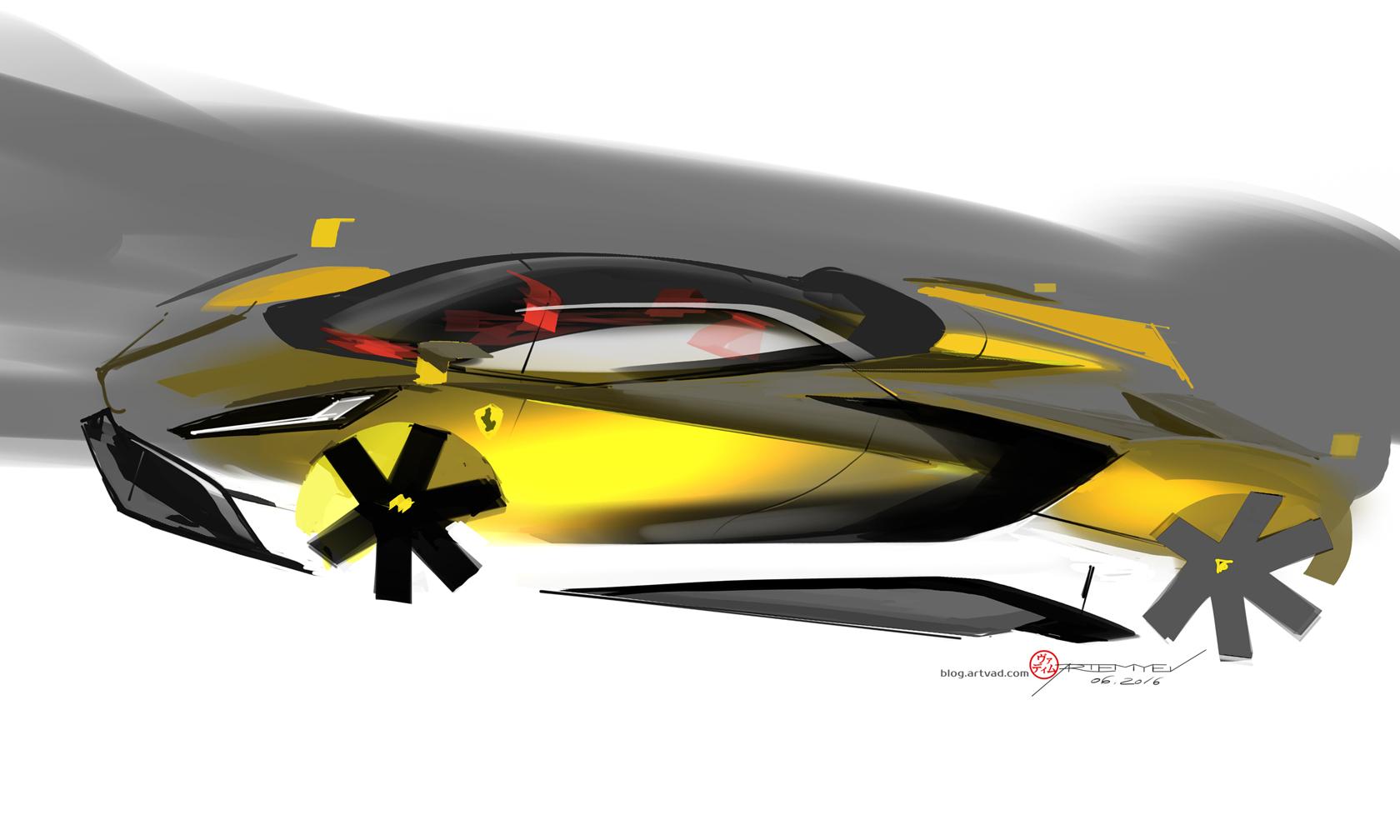 Yellow Ferrari