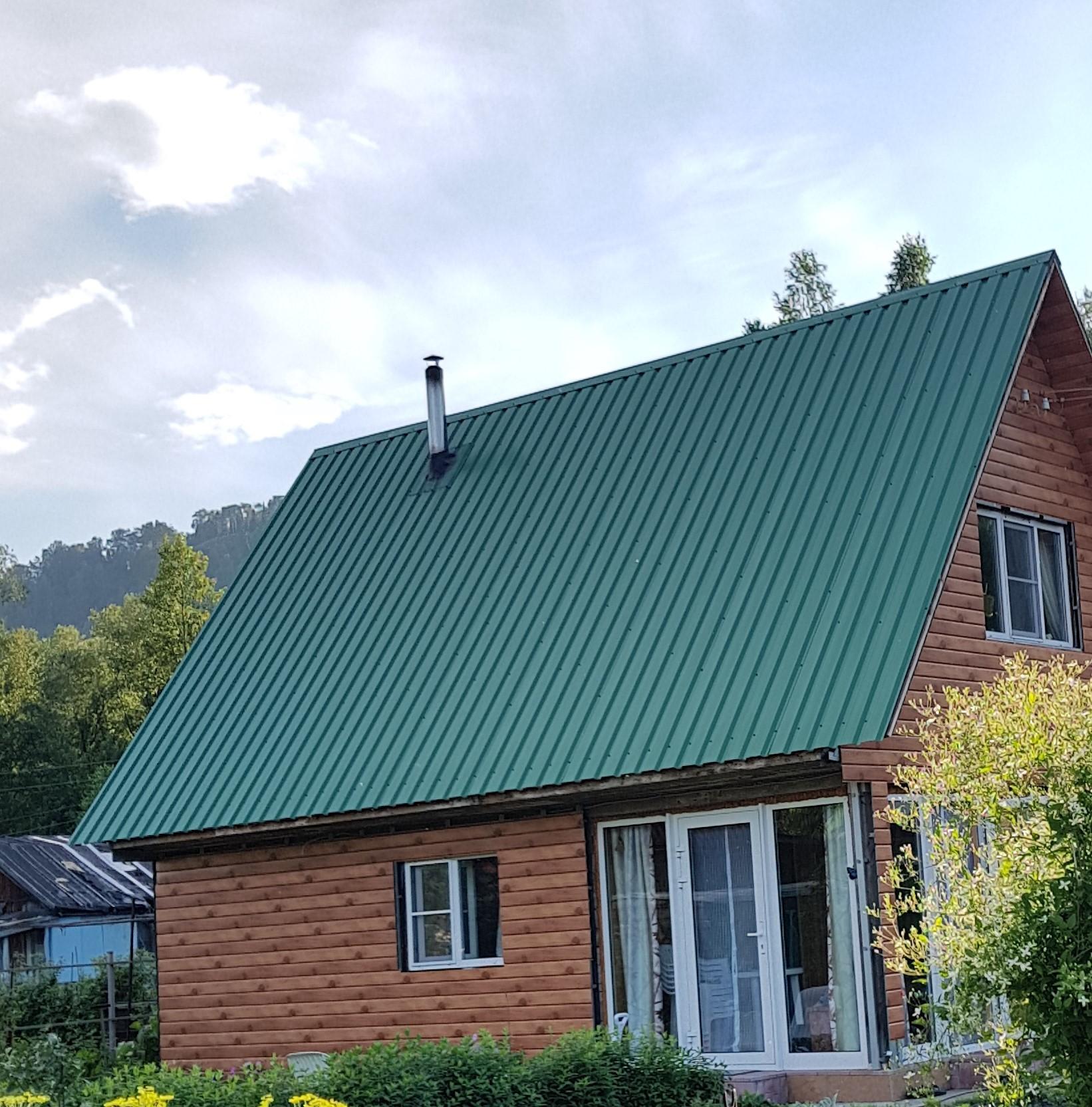 металлочерепица зеленый мох фото домов печать