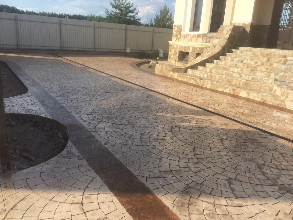 Штампованный бетон цены москва цена за работу в москве заливка бетона