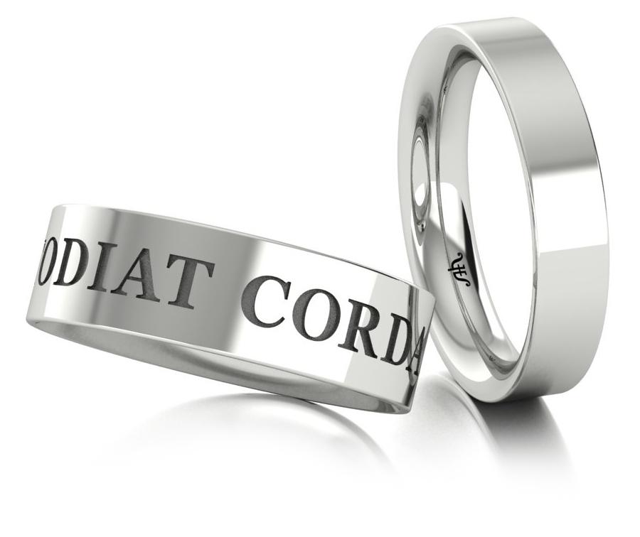 Классические обручальные кольца из белого золота купить и заказать в Москве ювелирная студия Виктора Шадрина