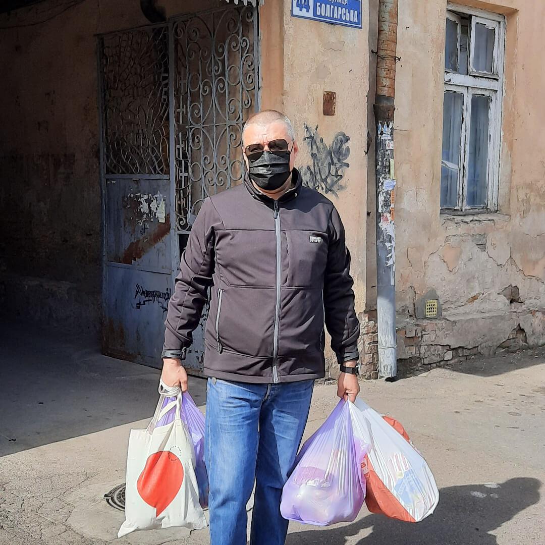 Помощь одесситам Молдаванки во время карантина