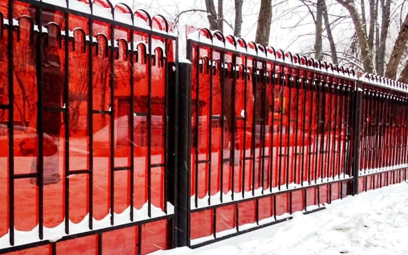 Сварной забор с поликарбонатом