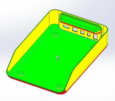 Это дизайнерская модель корпуса прибора — без технологической проработки