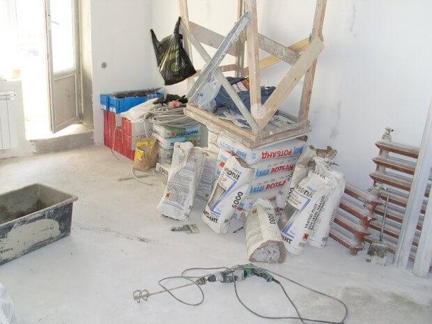 Незаконченный ремонт квартиры