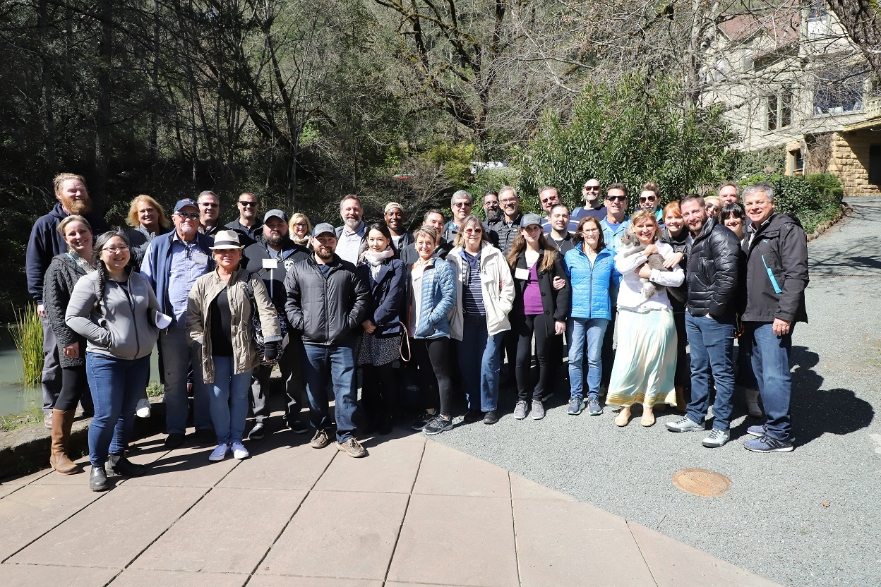 Group photo of Team Schramsberg and participants of the 24th Camp Schramsberg in March, 2019 (photo provided by Matthew Levy, Marketing and E-commerce Manager -- thank you!)