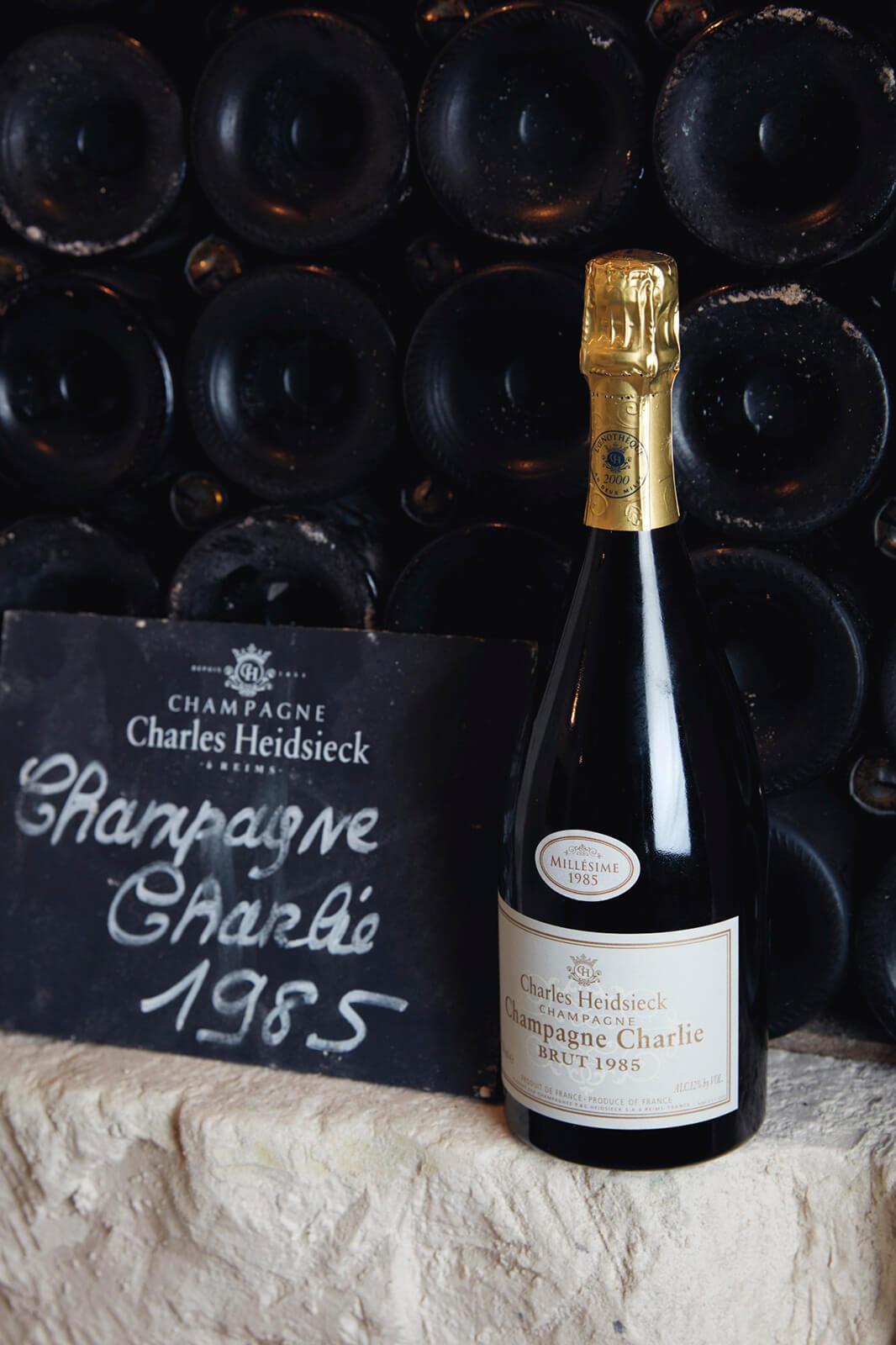 Charles Heidsieck Champagne Charlie Brut 1985 (photo courtesy Christie's)
