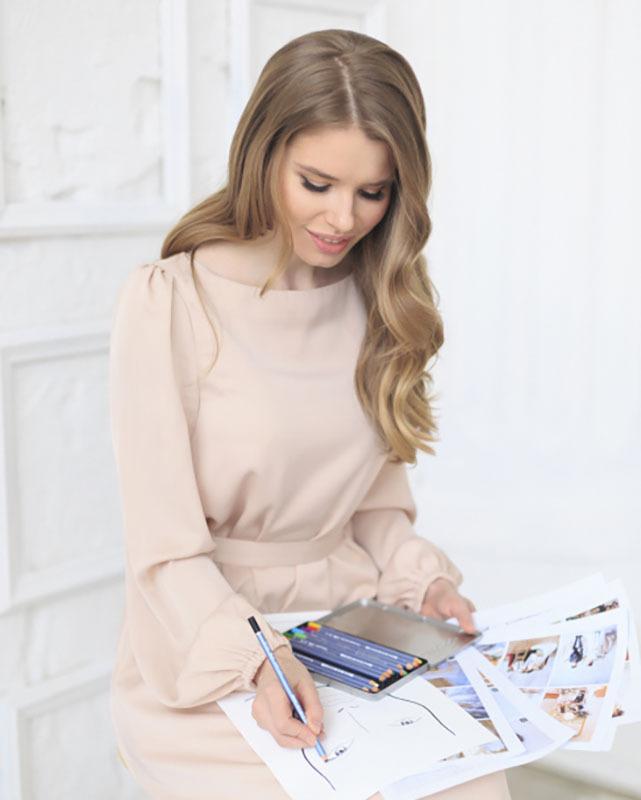 Составление свадебного образа стилистом Анастасией Котовой
