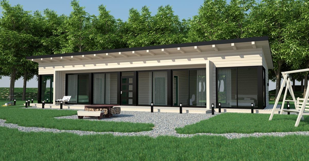 Каркасные одноэтажные строения