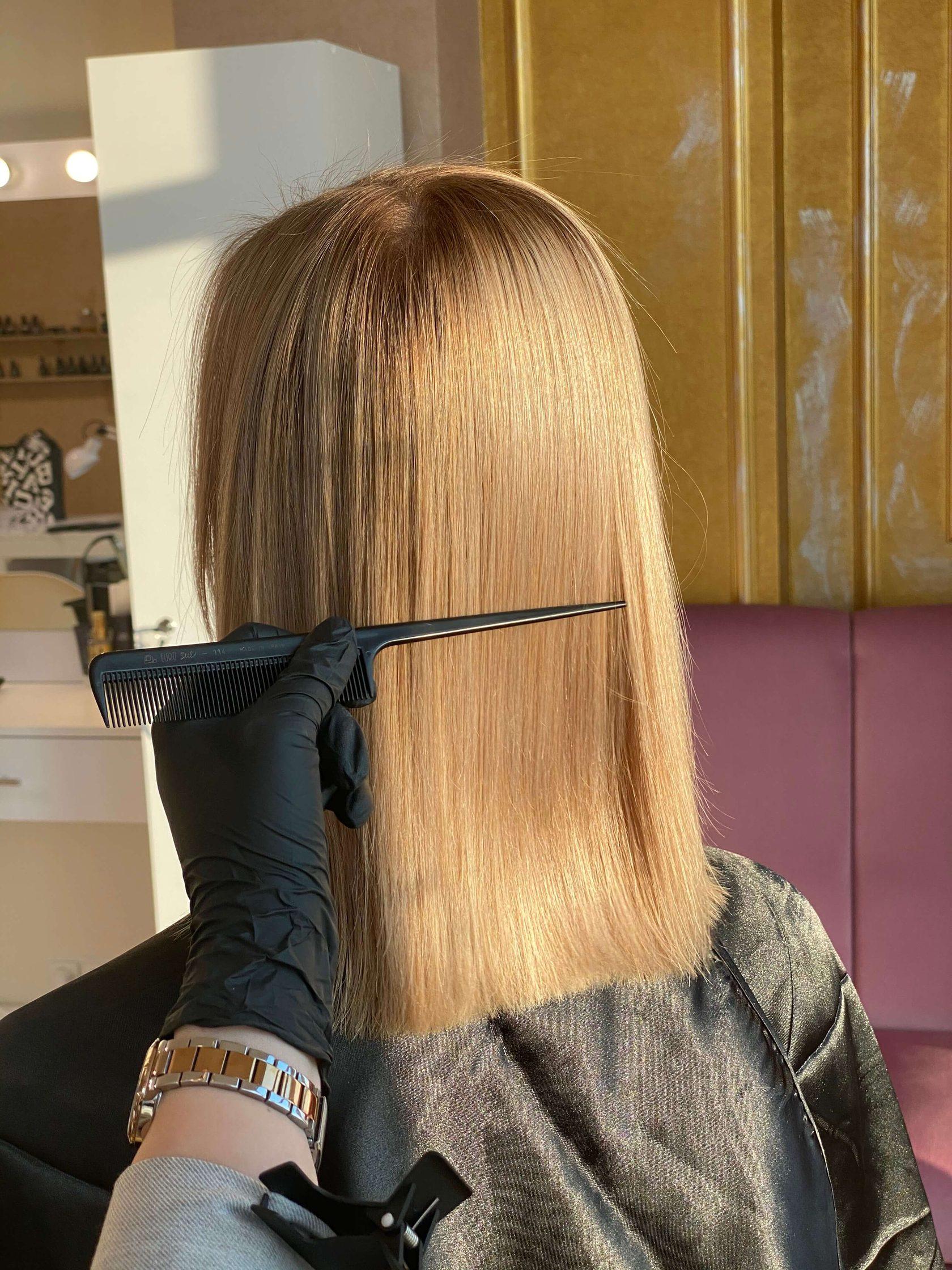 Выпрямляем волосы с помощью Nanokeratin System