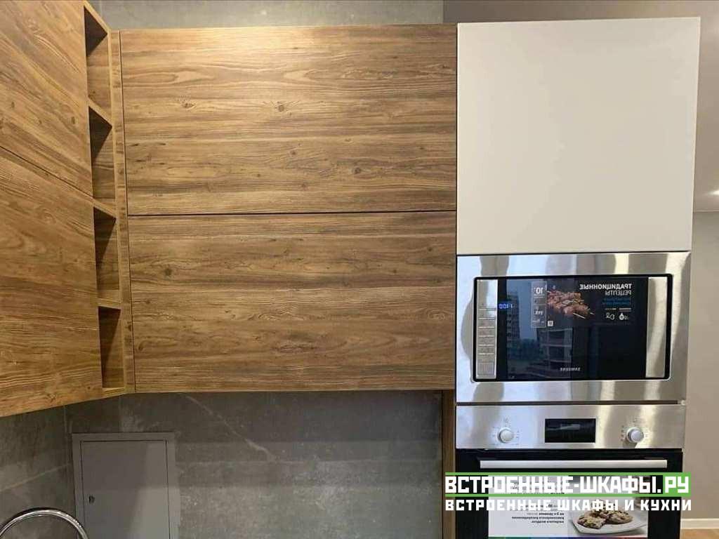Маленькая угловая кухня в современном стиле