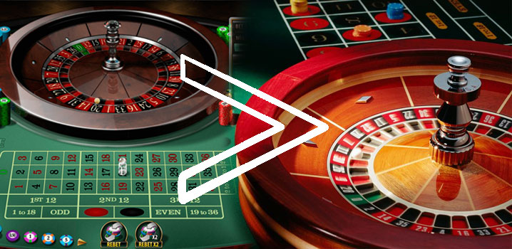 roulette - land-based vs. online