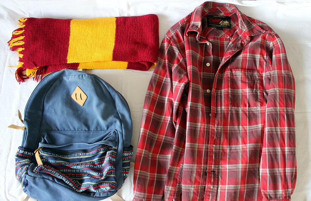 рюкзак шарф рубашка