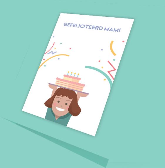 Geboortekaartje en uitnodiging ontwerp