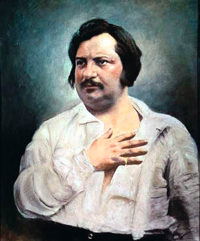 Писатель Оноре де Бальзак был в Петербурге 1843 год