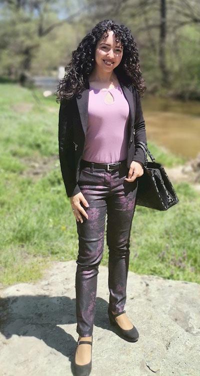 Дамски панталон с принт , фен снимка на клиентка на Ефреа.