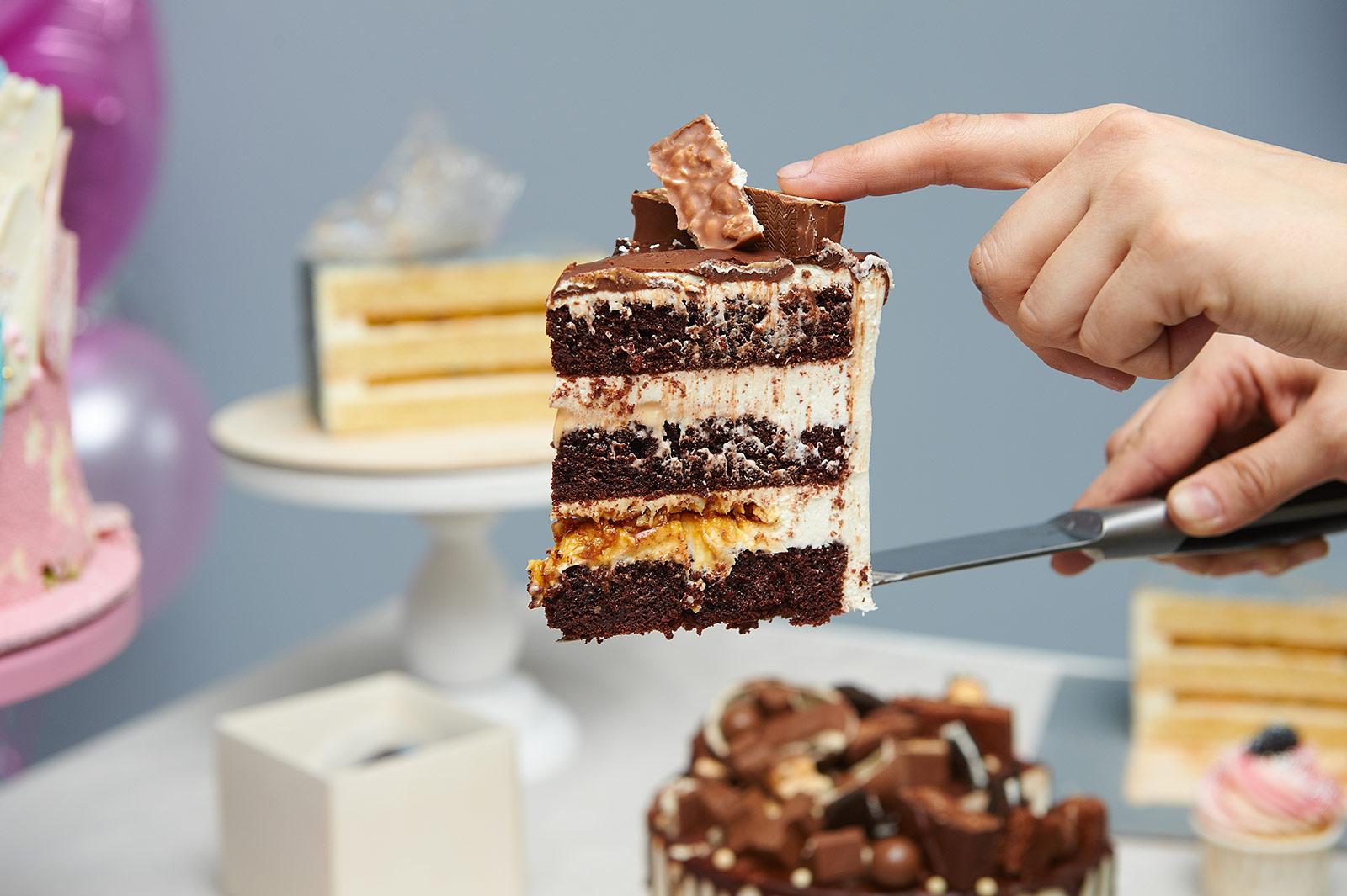 начинки тортов в разрезе