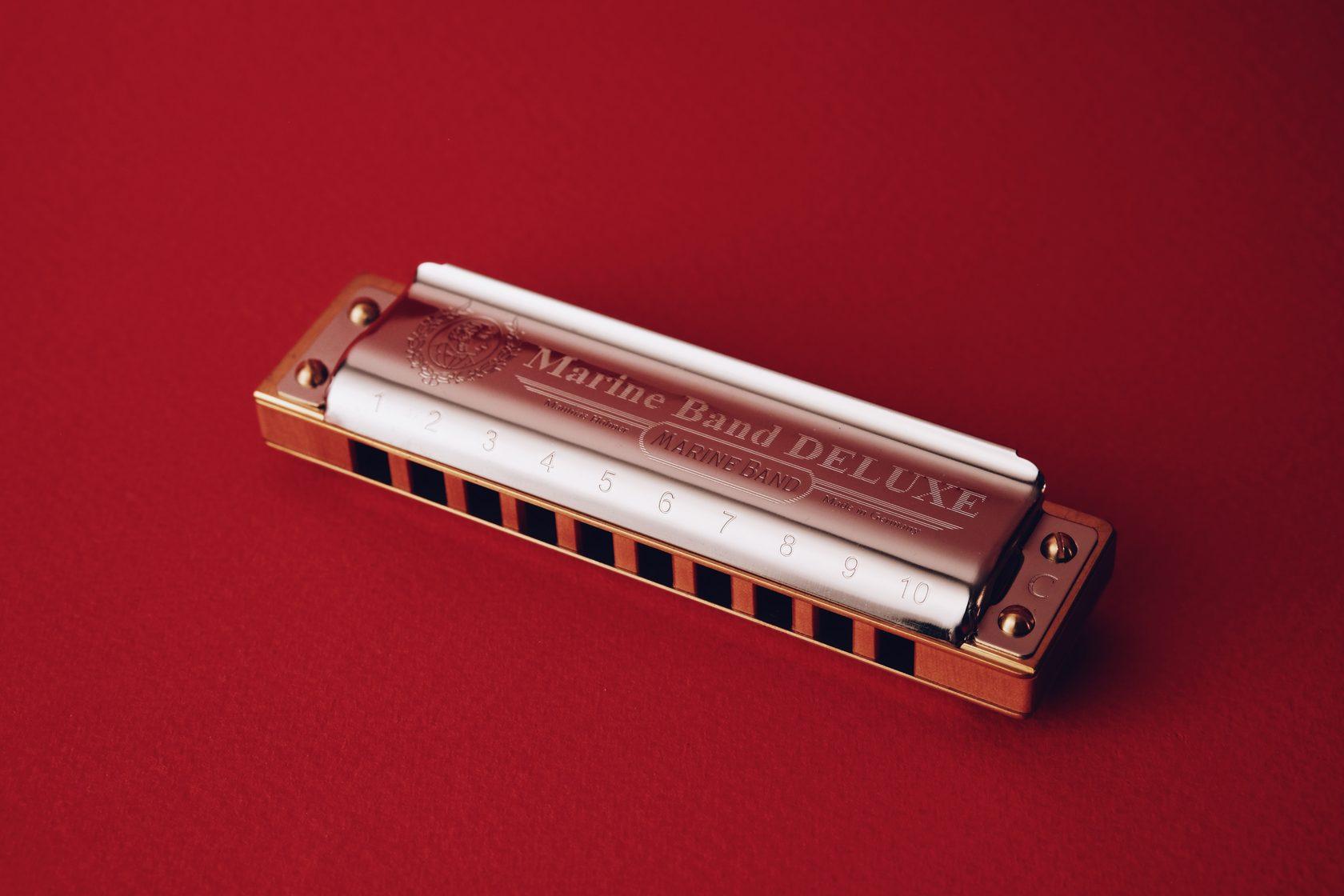 Губная гармоника Hohner Marine Band Deluxe, губная гармошка, диалогическая гармоника, harmonica, harp, купить в магазине Ukelovers