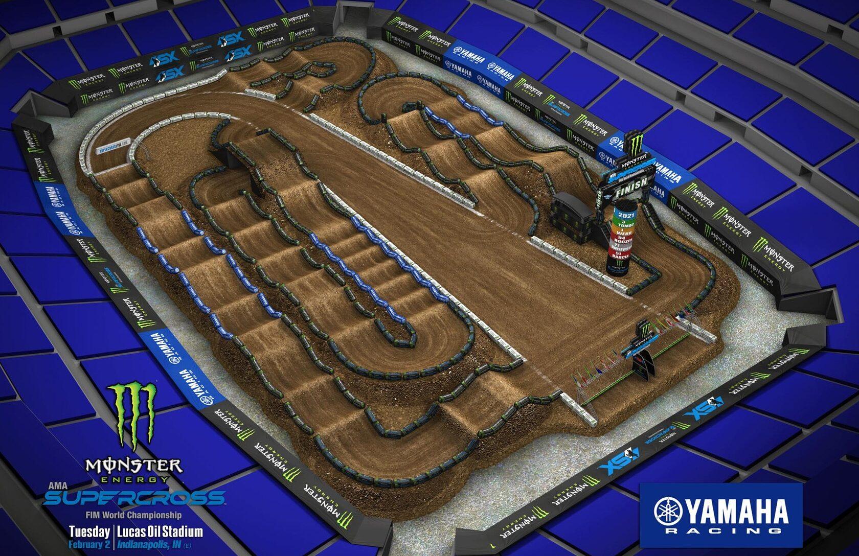 АМА Суперкросс 2021: Анимация трека - Индианаполис 2
