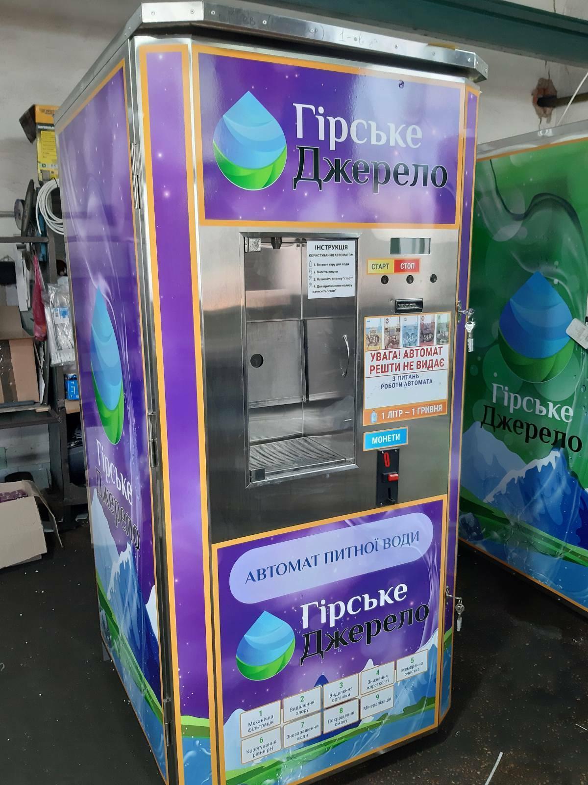 Современные автоматы по  продаже питьевой воды