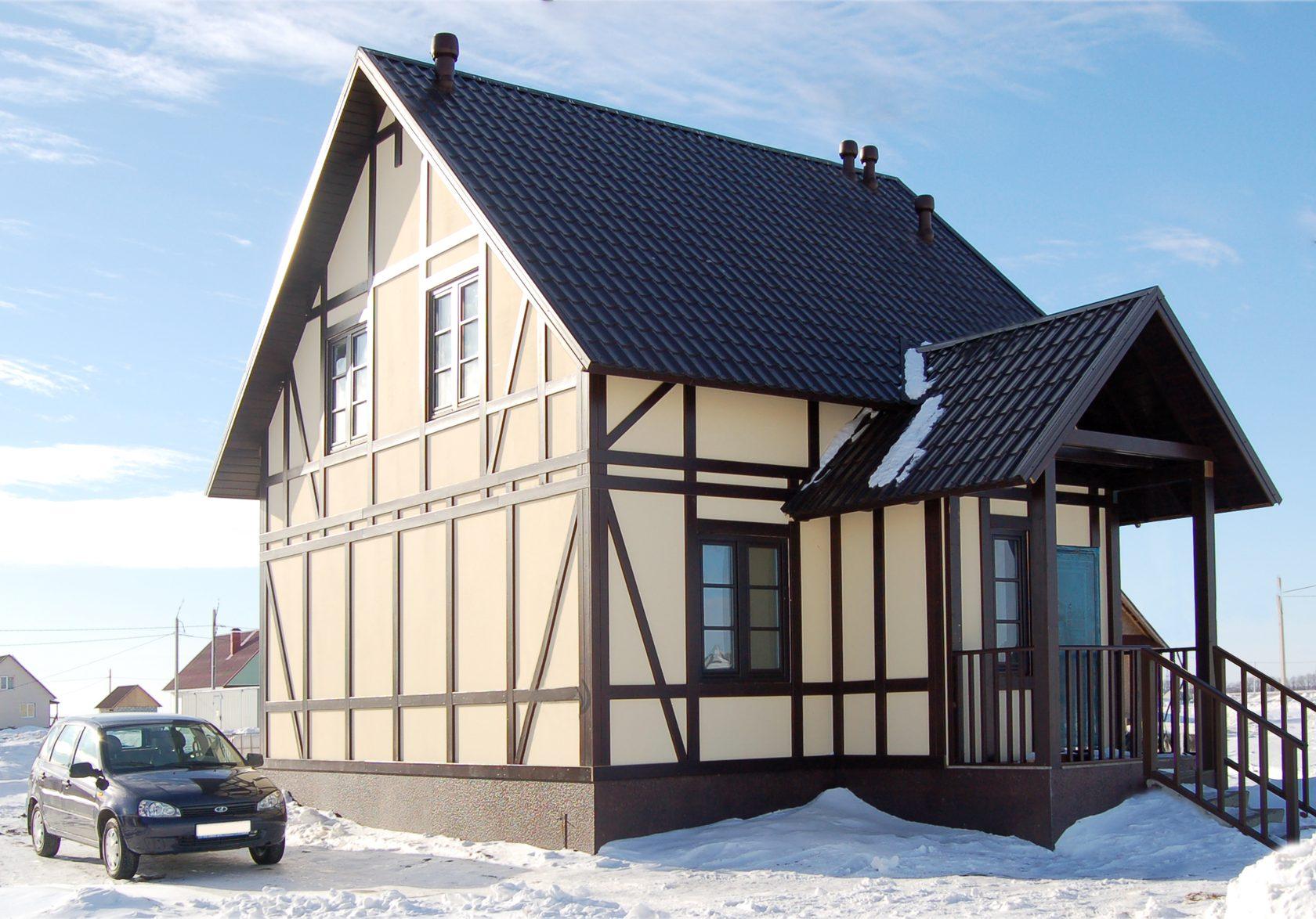 финский стиль дома фасад