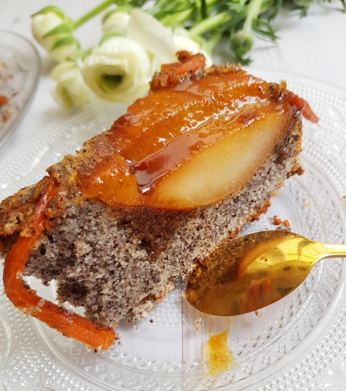Маковый пирого (кекс) с грушами Тарт татен. Простой рецепт. Вкусный Израиль.