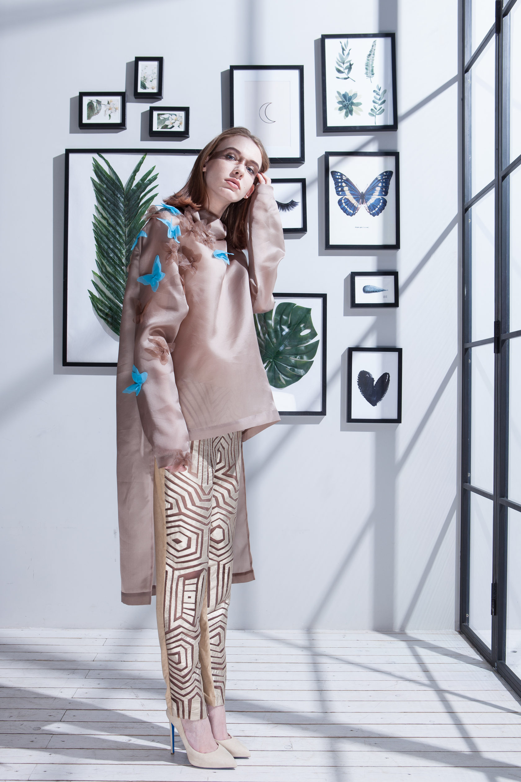 Платье из коллекции выпускницы школы моды Практика Елены Нагорной
