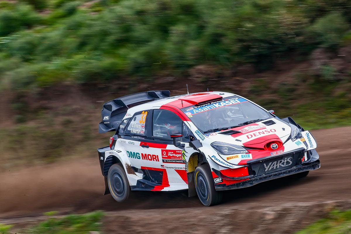 Элфин Эванс и Скотт Мартин, Toyota Yaris WRC, ралли Португалия 2021