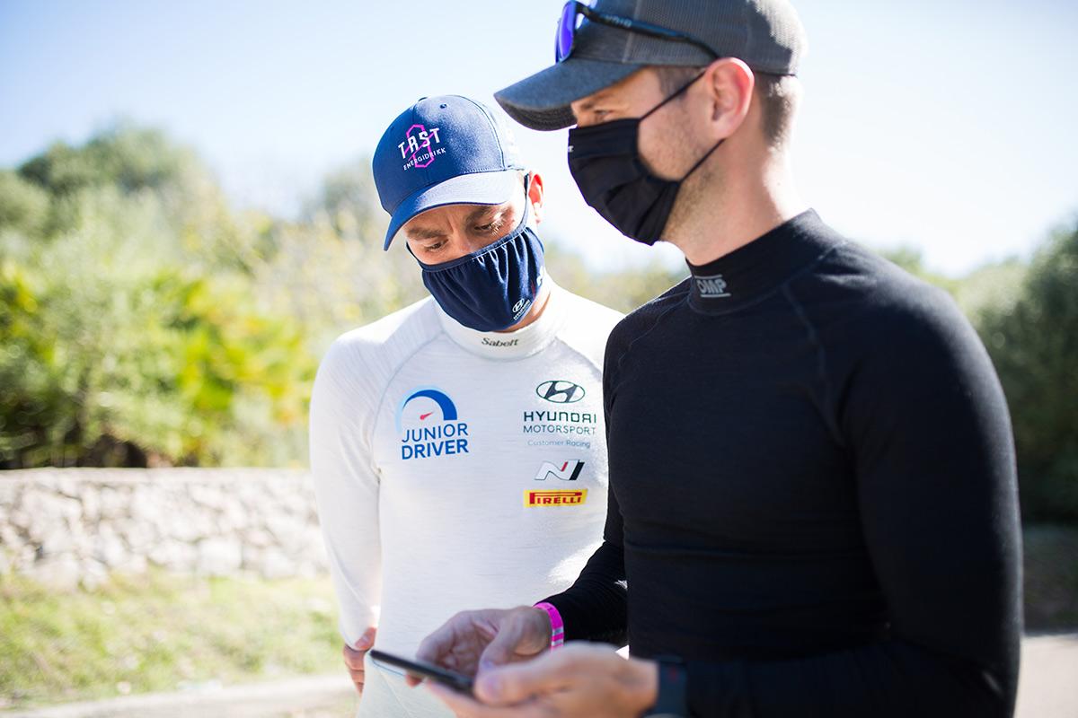 Уле-Христиан Вейбю и Йонас Андерссон (Hyundai), ралли Сардиния 2020