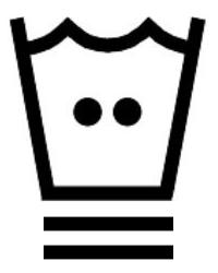 Знак за пране на дрехи с топла вода до 40 градуса и програма за деликатни тъкани
