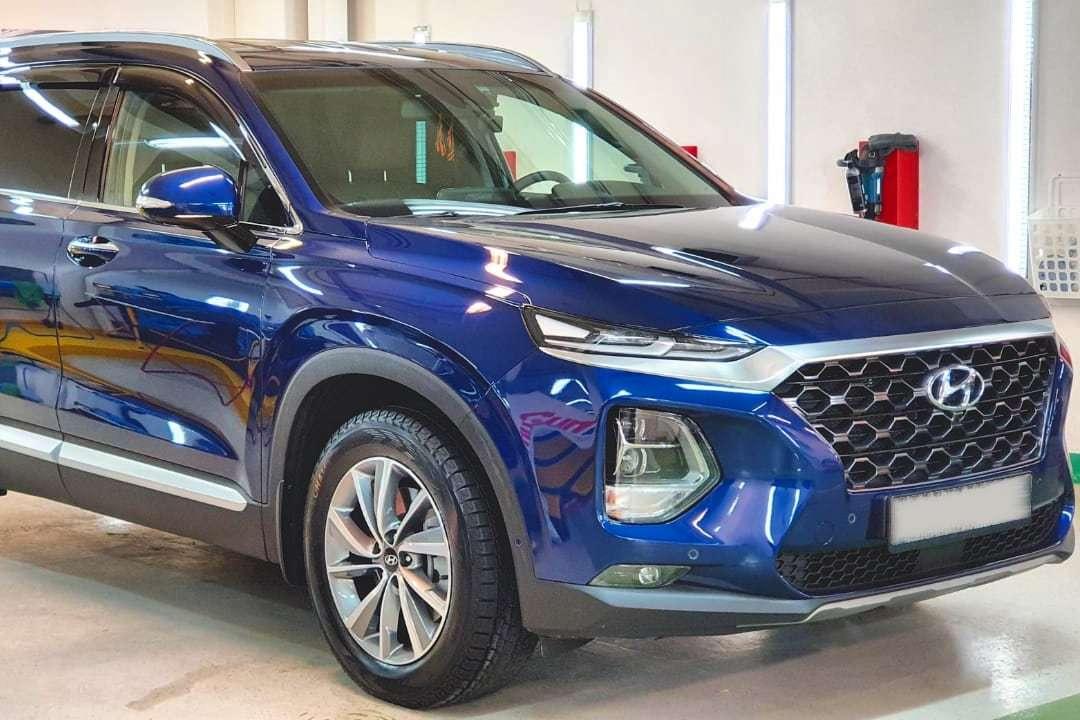 Оклейка защитной пленкой Hyundai Santa Fe