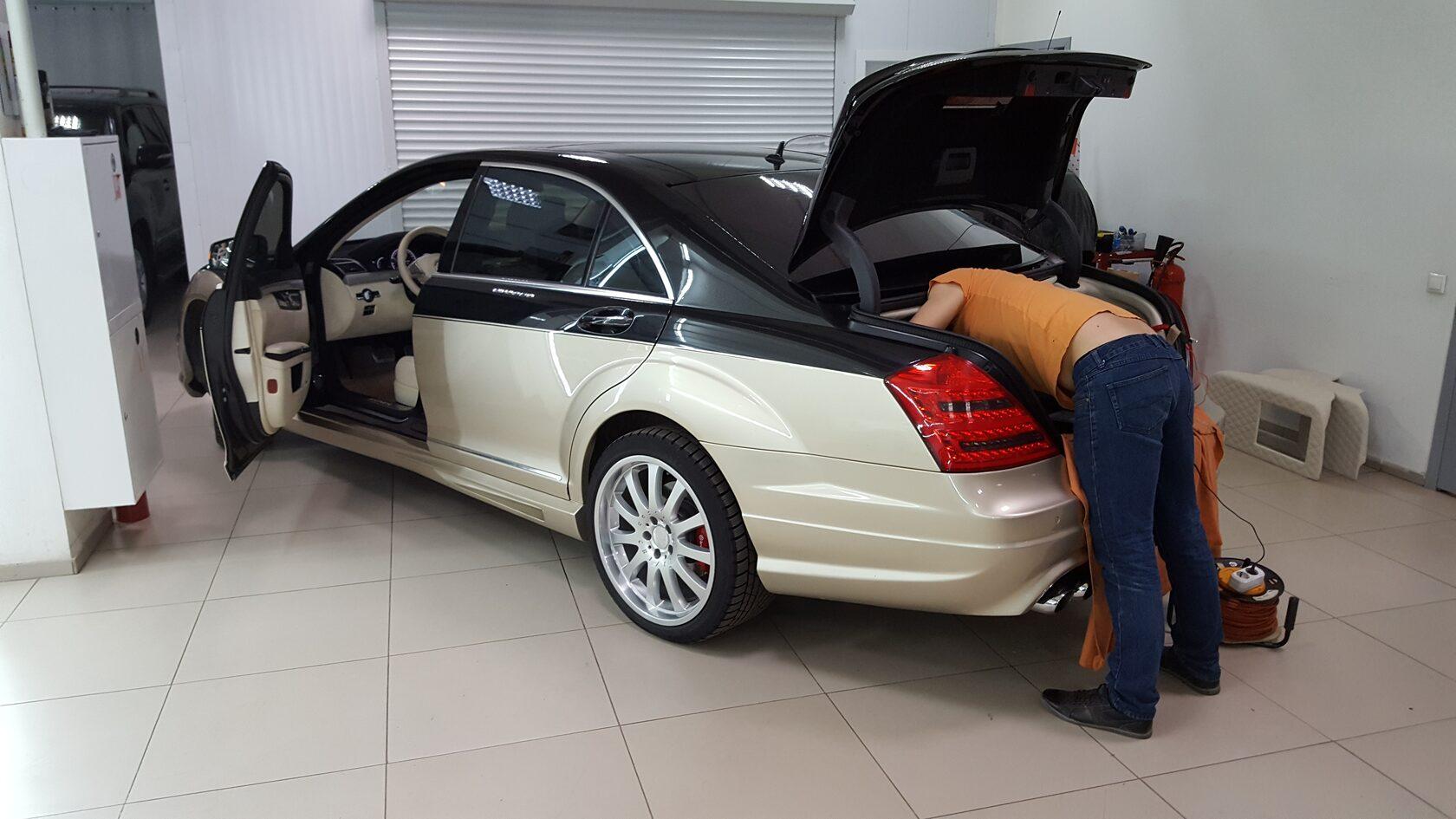 mercedes benz w221 автозвук