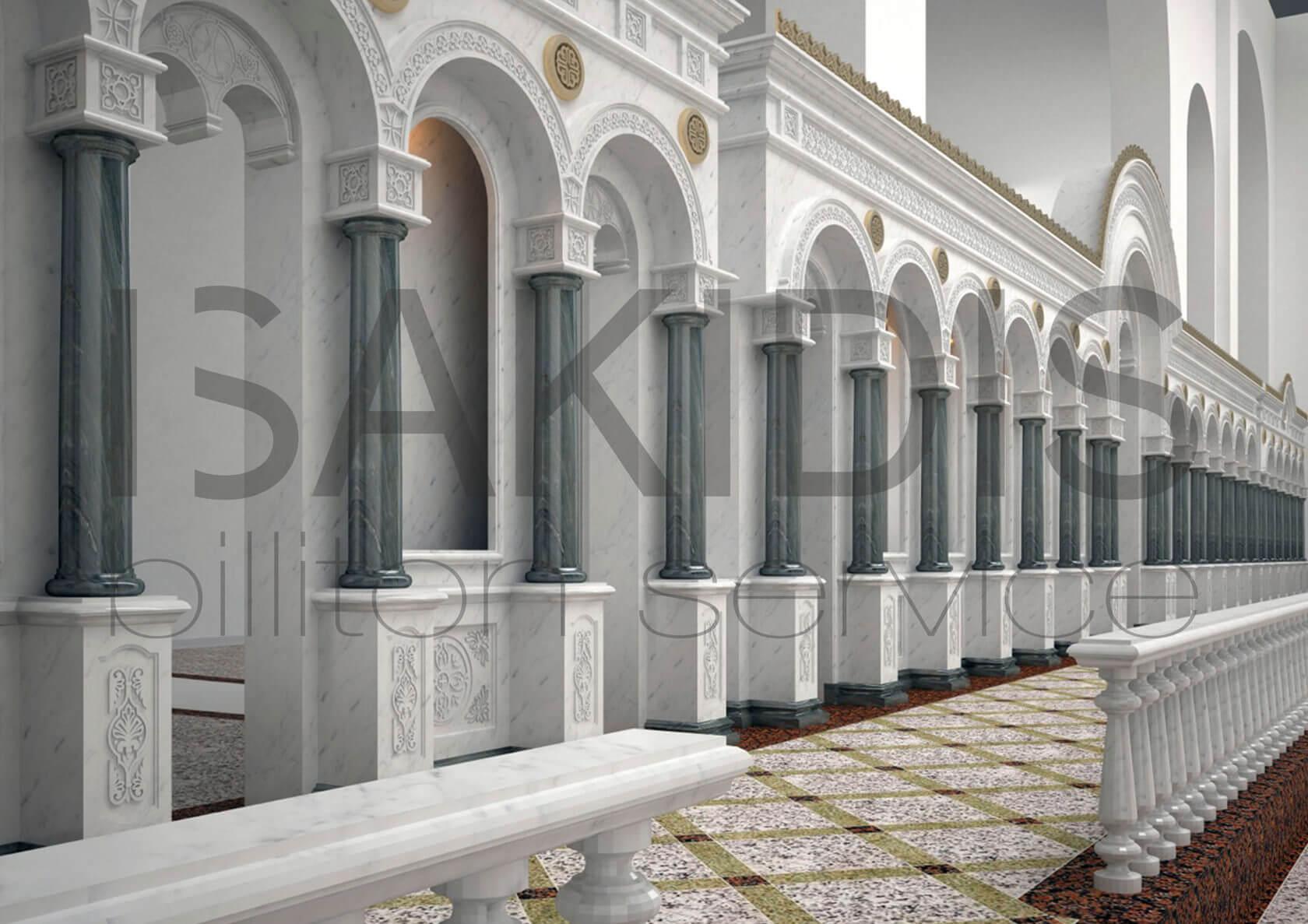 иконостас с колоннами
