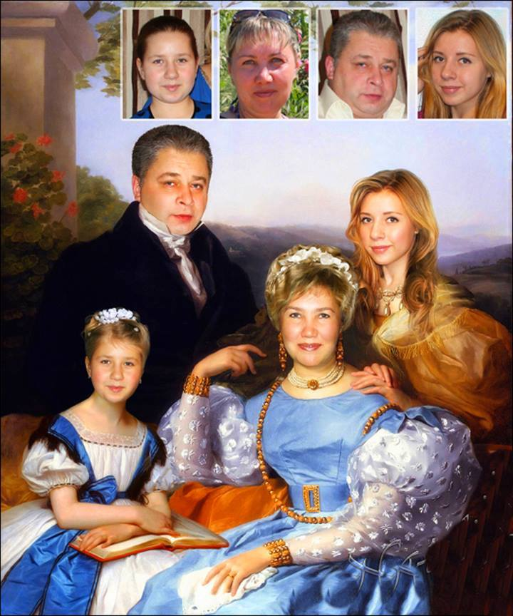 Фотомонтаж моя семья