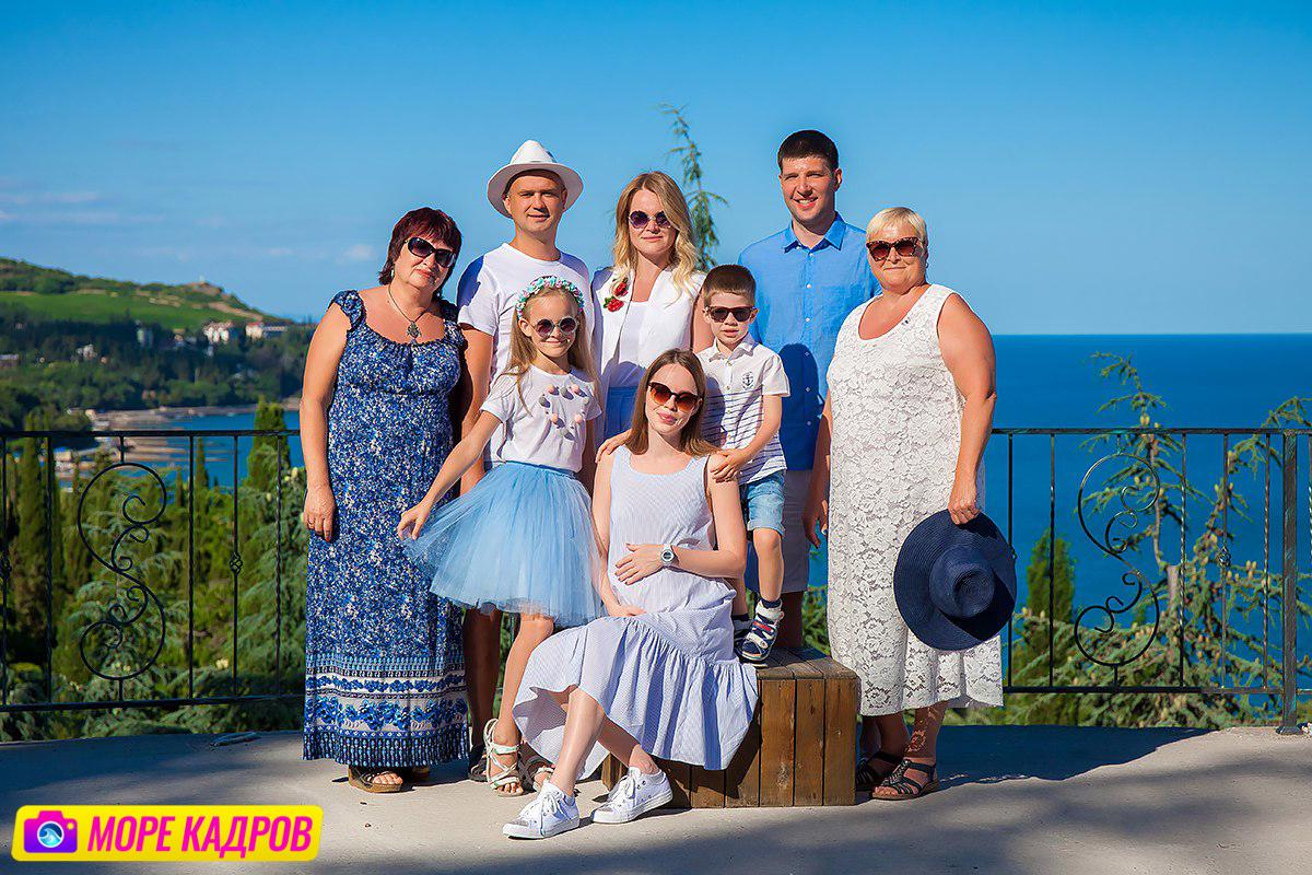 семейная фотосессия в Партените