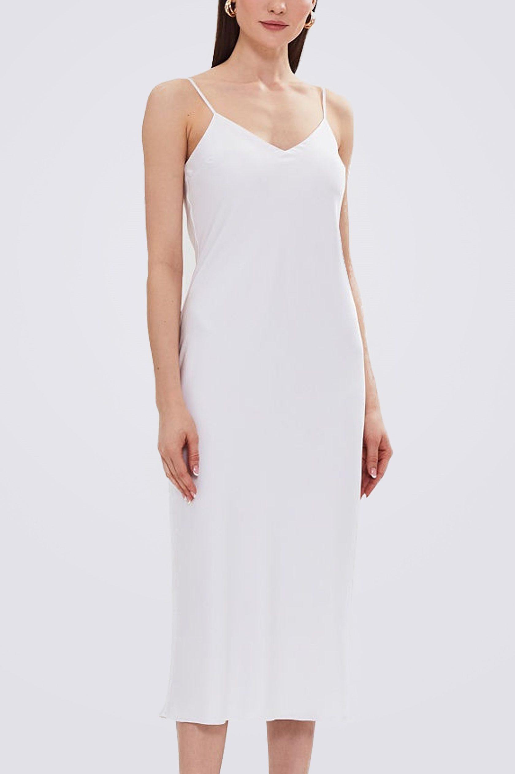 Платье комбинация миди ES.design белое EGOStyle