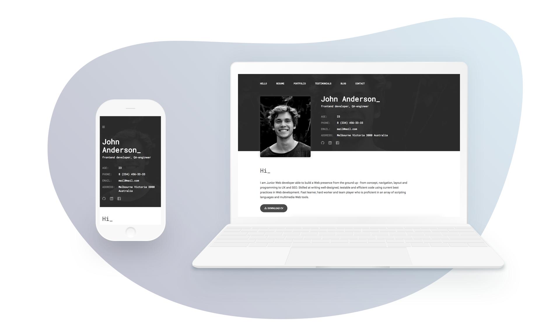 Spirit Portfolio Resume Html Template For Developer