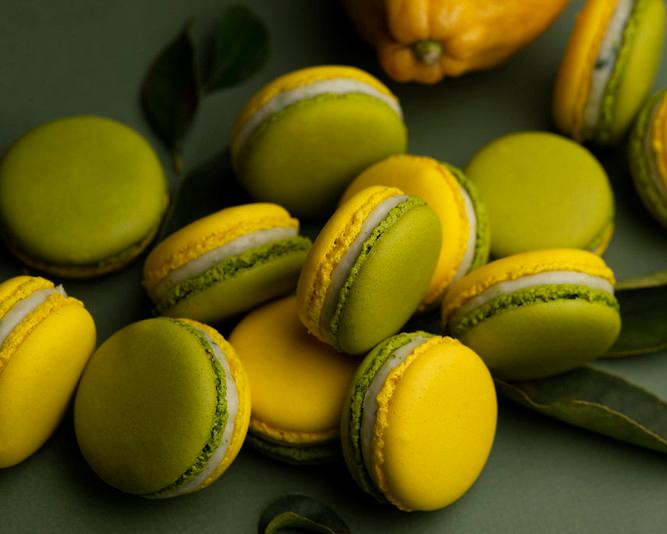 delicious macarons lime-tarragon