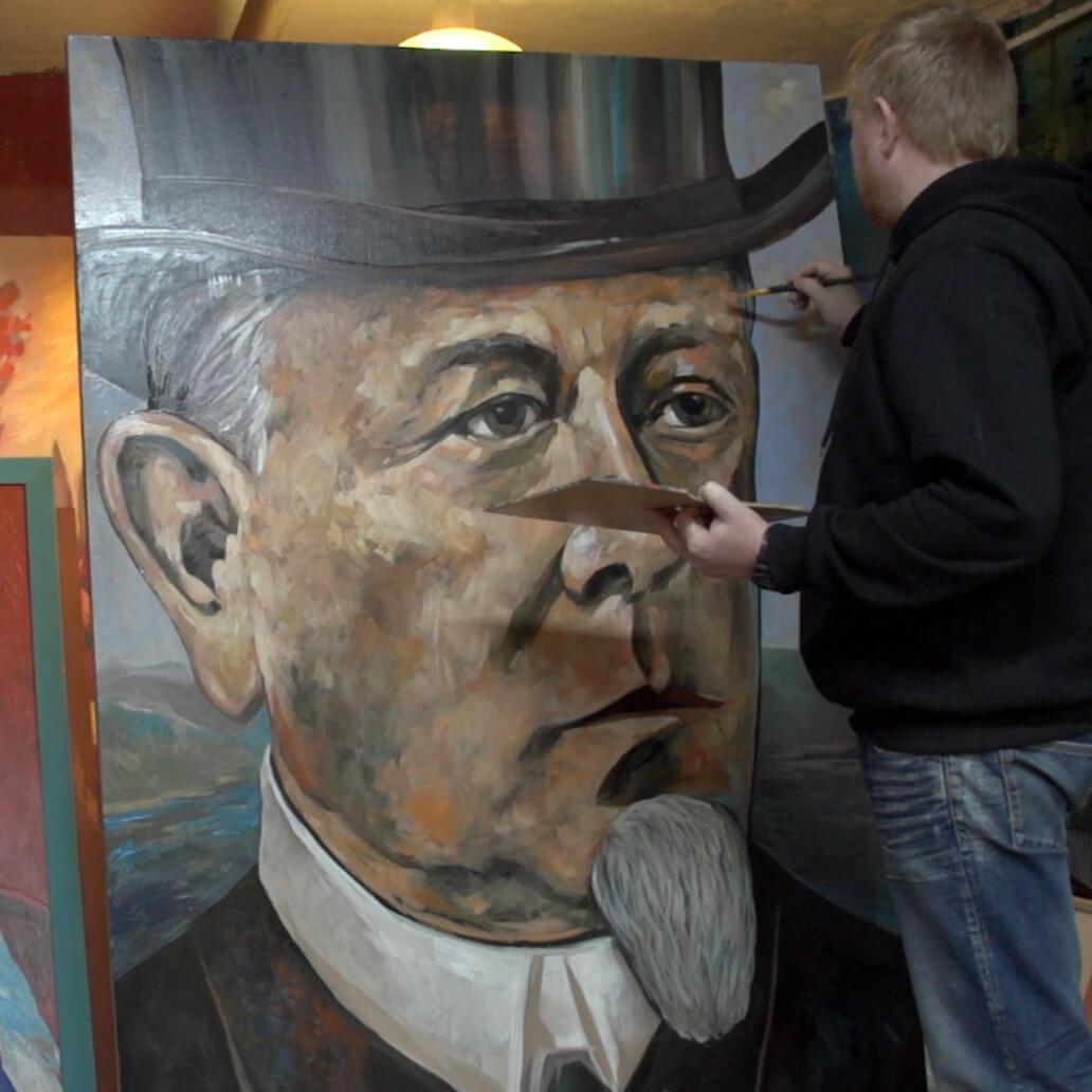 Портрет министра путей сообщения князя М. И. Хилкова.