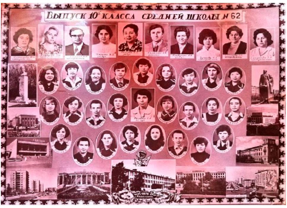 10  КЛАСС 1978 г.  Кл. рук. Роговая Г.А.