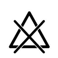 Символ, който означава, че използването на всички избелващи препарати е забранено
